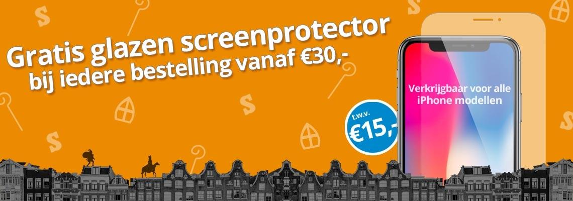 Gratis iPhone Screenprotector - Sint actie